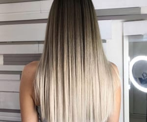 blond, hair, and straight image