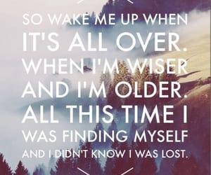 avicii, wake me up, and Lyrics image