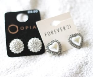 earrings, jewelry, and forever 21 image