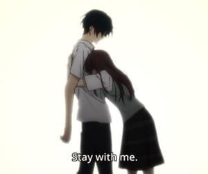 anime, anime couple, and sad anime image