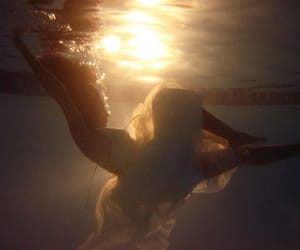underwater, dress, and girl image