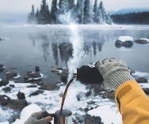 cold, lake, and mountain image