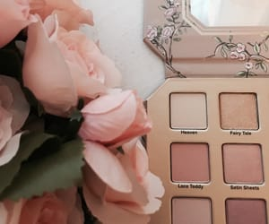 flowers, pink, and cosmetics image