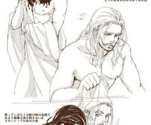 drawing, chris hemsworth, and tom hiddleston image