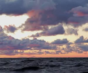 sea, gif, and sky image