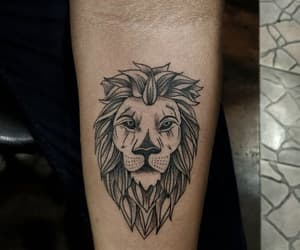 ink, inking, and liontattoo image