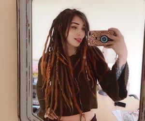 dreadlocks, dreads, and orange dreads image