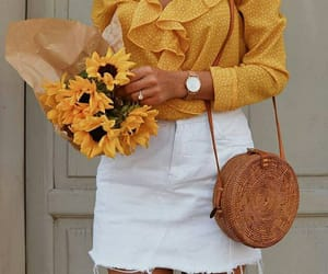 fashion, yellow, and beautiful image