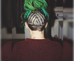 dreadlocks, dreads, and green dreads image