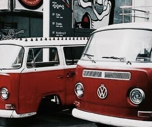 kombi, red car, and red image