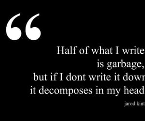garbage, head, and journal image