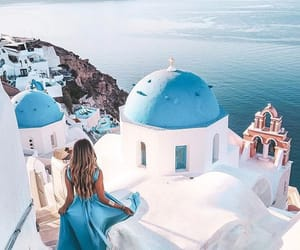 fashion, blue, and Greece image
