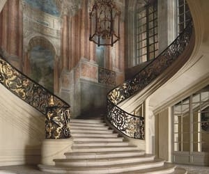 architecture, palace, and stairs image