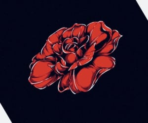 digital, painting, and rose image
