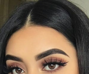 makeup, brown eyes, and eyes image