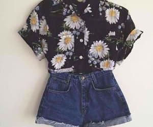 alternative, black, and flowers image