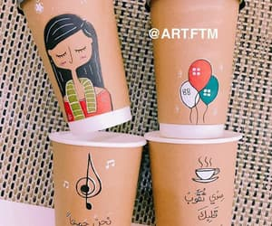 coffee, كﻻم, and نجوم image