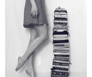 black, life, and book image