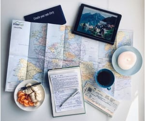 adventure, coffee, and map image