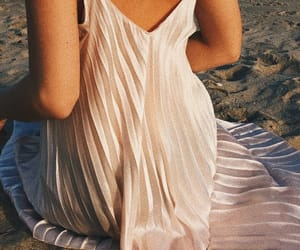 aesthetic, beach, and dress image