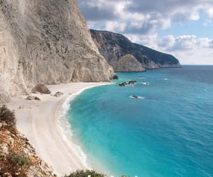beach, Greece, and lefkada image