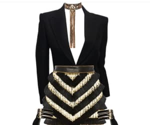 Balmain, black, and dress image
