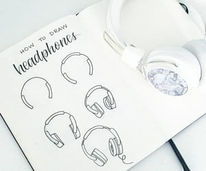 drawing and headphones image
