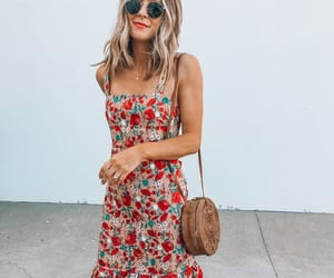 floral, floral print, and maxi dress image