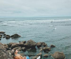 explore, girl, and ocean image
