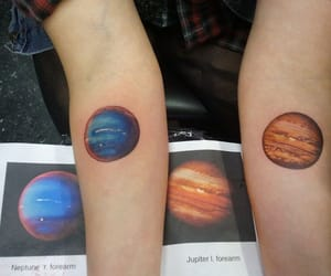 tattoo, planet, and jupiter image