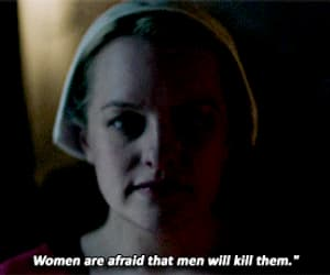 gif, the handmaids tale, and phrase. feminist image