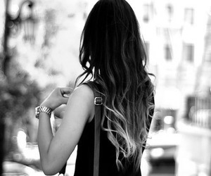 girl, hair, and ombre hair image