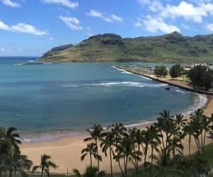 beaches, beachfront, and hawaii image