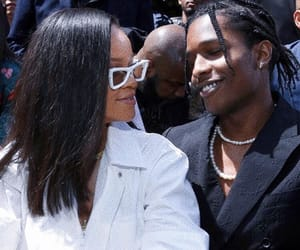 rihanna, asap rocky, and fashion image