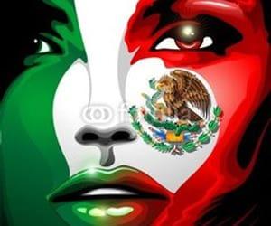bluedarkart designer, mexico flag, and mexico beautiful girl image