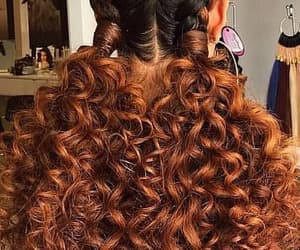 cheveux, coiffure, and curly hair image