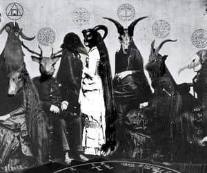 antichrist and black and white image