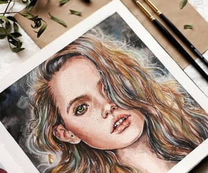 art, beautiful, and drawing image