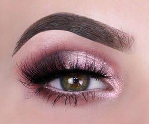 green eyes, lashes, and make up image
