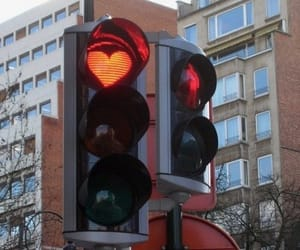 aesthetic, heart, and stoplight image