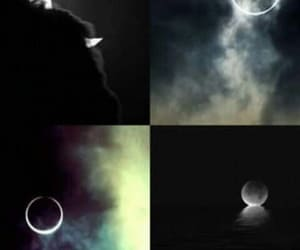 moon eclipce dark night image