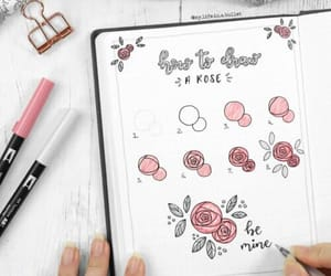 notes and rose image