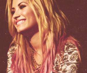 demi lovato, smile, and hair image