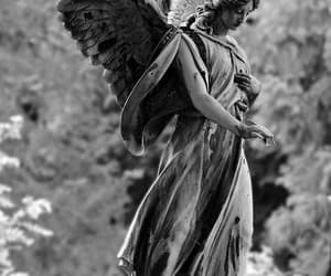 angel, broken, and dark image
