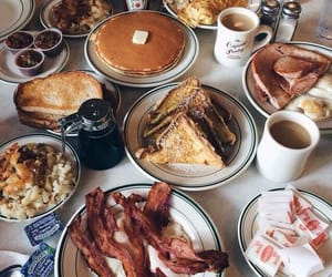 food, breakfast, and bacon image