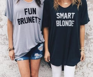friends, blonde, and brunette image