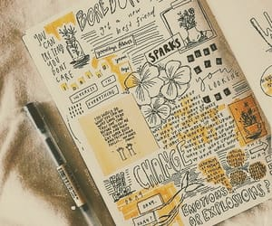 aesthetic, journal, and drawings image