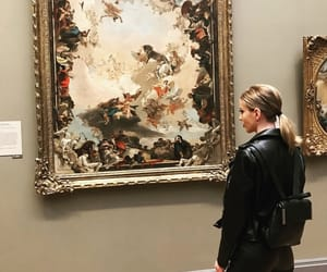 art, blond, and museum image