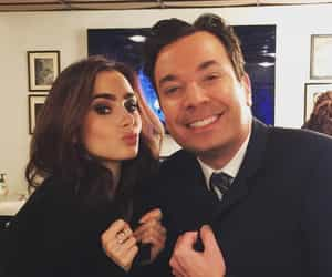 jimmy fallon and lily collins image