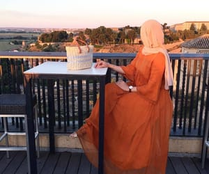 fashion, long dress, and hijab image